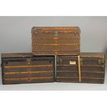Vintage Louis Vuitton Steamer Trunks