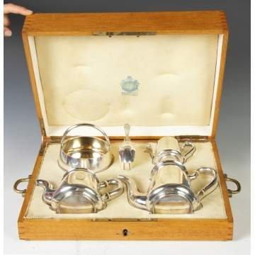 Russian Sterling Silver Tea & Coffee Set