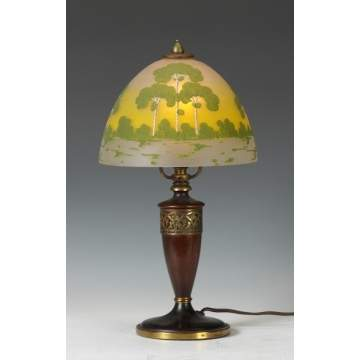 Pairpoint Arts & Crafts Obverse Painted Boudoir Lamp