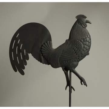 Cast Iron & Sheet Metal Rooster Weathervane