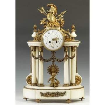 French Marble Shelf Clock
