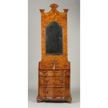 Venetian Burl 2-Pc. Secretary