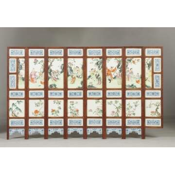 Chinese Porcelain Panel Screen