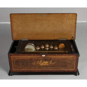 Swiss 12 Tune Cylinder Music Box