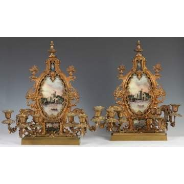Pair of Gilt Bronze Girandoles