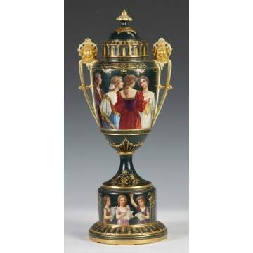 Royal Vienna Covered Urn