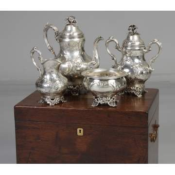 F.W. Cooper Coin Silver 4-Pc. Tea Set