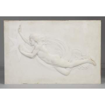 Relief Carved Marble Plaque, Attr. To William Henry Rinehart (1825-1874)