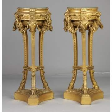 Continental Carved & Giltwood Plant Stands