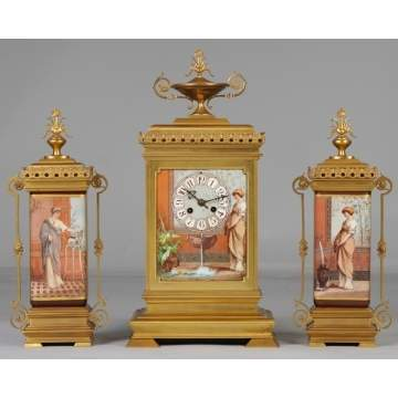 Victorian 3-Pc. Clock Set