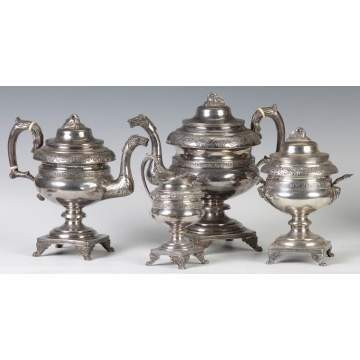 4 Pc. Coin Silver Tea & Coffee Service