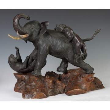 Sgn. Japanese Bronze Elephant
