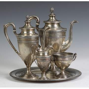 Dominick & Haff Sterling Silver 5-Pc. Tea Set w/Tray