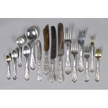 Gorham Sterling Silver Flatware Set -  Mythologique Pattern
