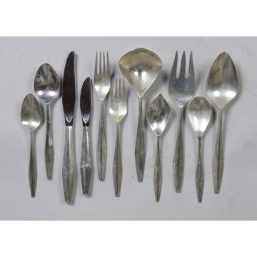 Reed & Barton Sterling Silver Flatware Set -  Diamond Pattern