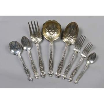 Whiting Sterling Silver Flatware Set - Dresden Pattern