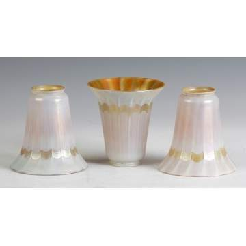 Sgn. Quezal Set of 3 Decorated Shades
