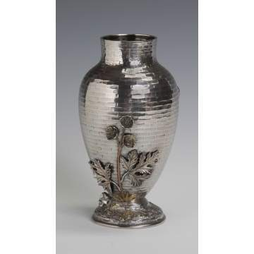 Whiting Sterling & Mixed Metal Vase