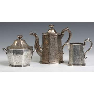 Geradus Boyce, NY, 3 Pc. Silver Tea Set