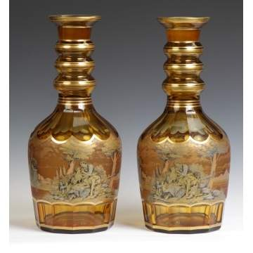 Bohemian Cut Glass Decanters
