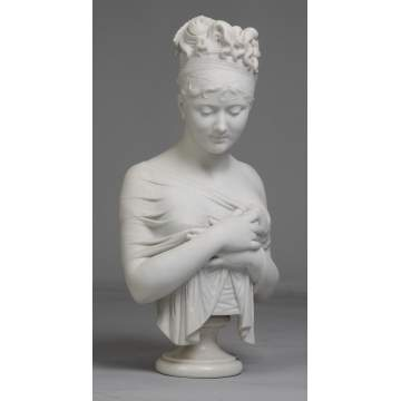 Marble Bust of Young Lady