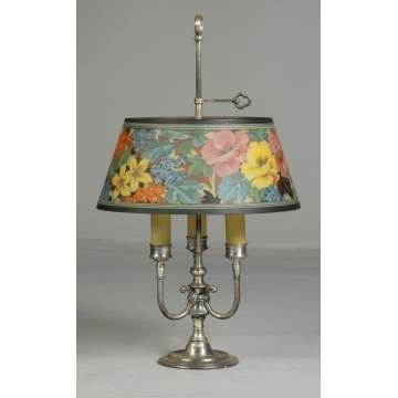 Pairpoint Reverse Painted Lamp with Flowers