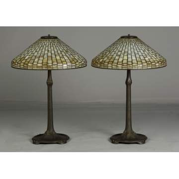 A Pair of Tiffany Studios Lamps