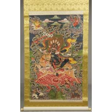 Tibetan Painting mounted as a Scroll