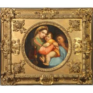 Renaissance Revival Old Master's Style Ptg. Of Madonna & Child