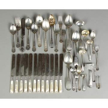 Group of Misc. Sterling & Coin Silver Flatware
