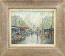 Two Jean Salabet (French, 20th Cent.) Paris street scenes