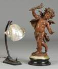 Victorian Patinated Metal Putti