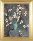 "John Thompson, ""Dogwood in Green Vase"""