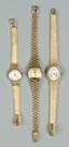 2-14K Gold Ladies Wrist Watches & 1-18K Gold Ladies Wrist Watch