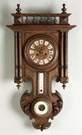 Black Forest Wall Clock with Barometer & Thermometer