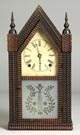 J. C. Brown, Forestville, CT, Ripple Front Steeple Shelf Clock