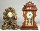 Brass Shelf Clock & Ball Top Shelf Clock