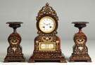 3 Piece Unusual French Clock & Garnitures