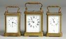 Three French Carriage Clocks