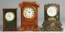 Box Clock, Arch Top & Iron Front Shelf Clocks
