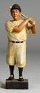 German Baseball Carved Whistler