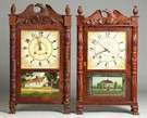 Carved Column & Splat Shelf Clocks
