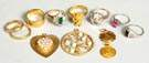 Group of Misc. 18K & 14K Gold Rings & Pendants