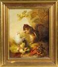 Mary Russell Smith (American, 1842-1878) Chipmunk w/chick