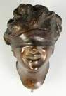 Bronze Sculpture of a Blindfolded Lady