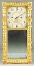 Gilt Front Mirror Clock