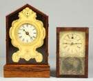 Brass Front Shelf Clock & Box Clock