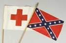 Red Cross Flag & Confederate Flag