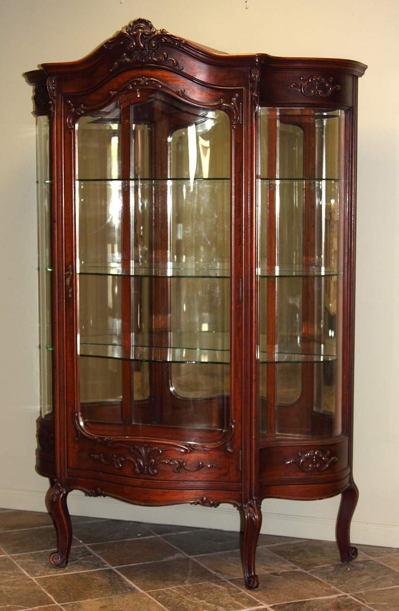 victorian serpentine china cabinet cottone auctions
