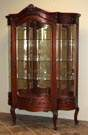 Victorian Serpentine China Cabinet